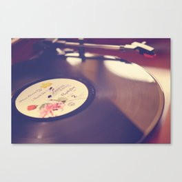Purple Rain Vinyl Record Photograph Canvas Print