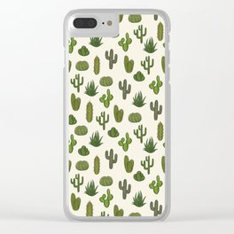 Cacti parade Clear iPhone Case