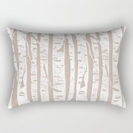 Woodcut Birches Rectangular Pillow