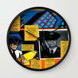 Bird of Steel Comix – 7 of 8 (Society 6 POP-ART COLLECTION SERIES) Wall Clock
