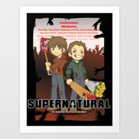 Supernatural - Goin to the Winchesters Art Print
