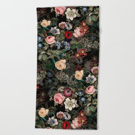 Dark Garden Beach Towel