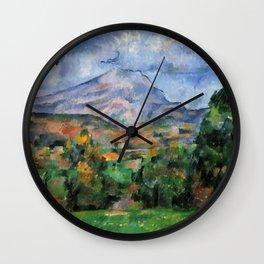 """Paul Cezanne """"Mont Sainte-Victoire"""", c.1890 Wall Clock"""