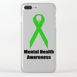 Mental Health Awareness Clear iPhone Case