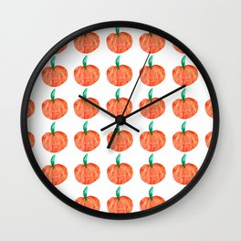Fall Pumpkin Pattern Wall Clock