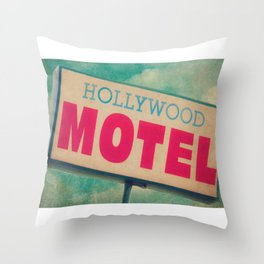 The Hollywood No-Tell Motel Throw Pillow