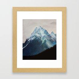 Snow Mountain Framed Art Print