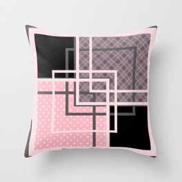 Geometric patchwork 7 Throw Pillow