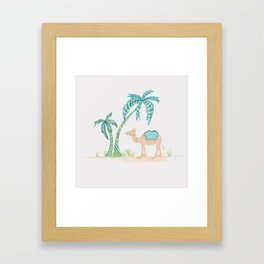 Limited Edition - Tropical Camel Framed Art Print