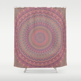 Boho oval mandala Shower Curtain