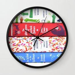 Pretty Book Stack Part 2 Wall Clock