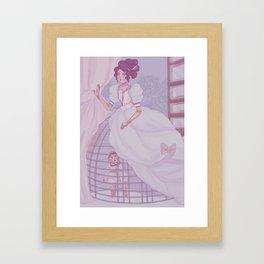 Seen but not heard Framed Art Print