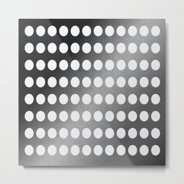 Dots in a Row in Black and White Metal Print
