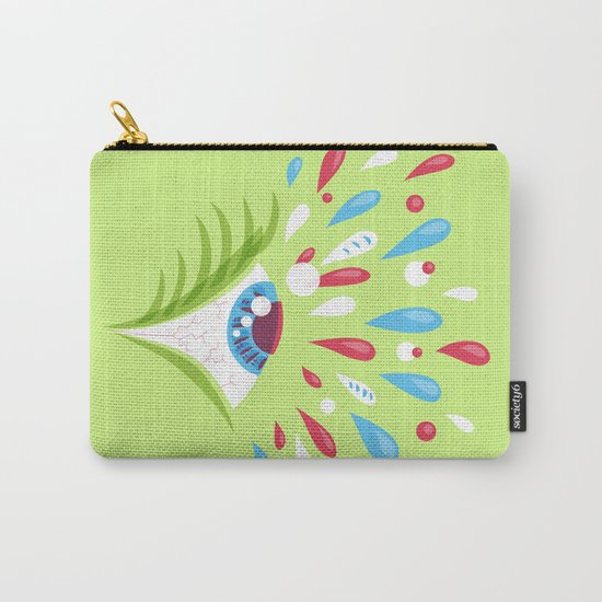 Psychedelic eye Carry-All Pouch