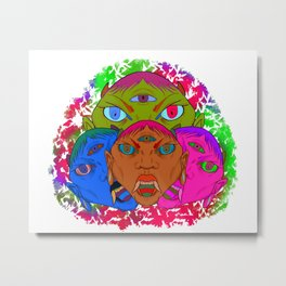 Rainbow Demons Metal Print