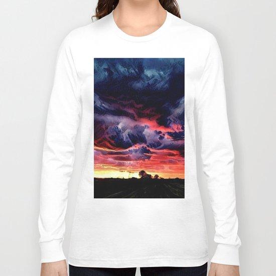 Sunset over the Horizon (Gorgeous Landscape) Long Sleeve T-shirt