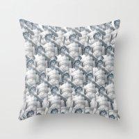 david olenick Throw Pillows featuring David by Kate Malinak
