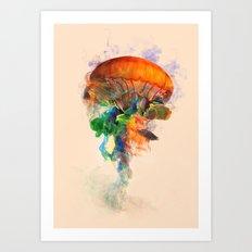 Jellyfish Ink Art Print