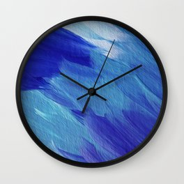 Deepest blues Wall Clock