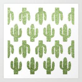 Glitter Cacti Art Print