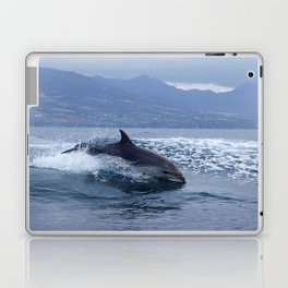 Wild and free bottlenose dolphin Laptop & iPad Skin