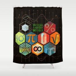 Math Game in black Shower Curtain