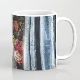 Adriaen van der Spelt - Flower Still-Life with Curtain Coffee Mug