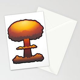 Nuclear Explosion Mushroom Cloud Stationery Cards