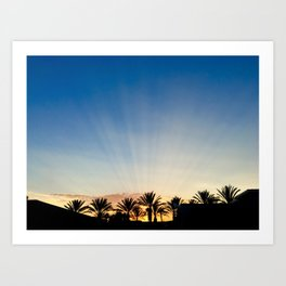 Sunset in Southern California Art Print