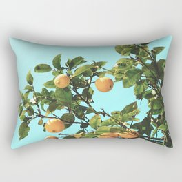 Summer Orange Tree Rectangular Pillow