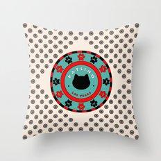 Katsino Las Vegas (animals cats) Throw Pillow