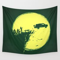 zombie Wall Tapestries featuring Zombie Invasion by Picomodi