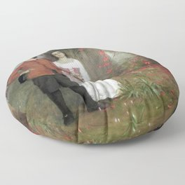 Arnold Böcklin - The Artist and his Wife Floor Pillow