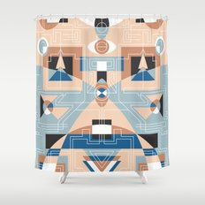 Tribal Technology 2 Shower Curtain