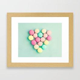 Macarons, macaroons heart II, pop art Framed Art Print