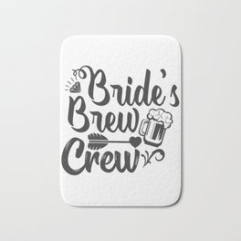 Bride's Brew Crew Bath Mat