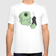 Bullet in the Head MEDIUM White Mens Fitted Tee