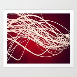 Linear Flow-Red Complex Art Print