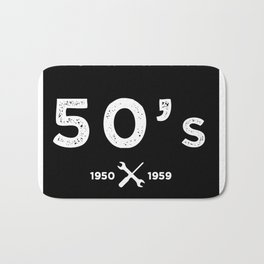 Born in the 50s. Certified Awesome Bath Mat