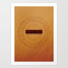 MARS Explorers  - MINIMALIST POSTER Art Print
