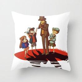 Layton in Gravity Falls Throw Pillow