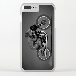 Black Lightning Works Racing Clear iPhone Case