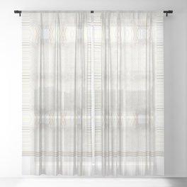Southwestern Neutral Pattern Design Sheer Curtain