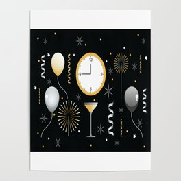 New Years Eve Celebration Poster