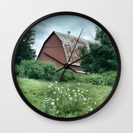 Rusty Red Barn  Wall Clock