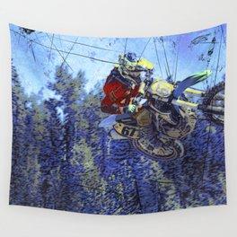 Motocross Dirt-Bike Championship Race Wall Tapestry