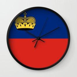 Liechtenstein country flag Wall Clock