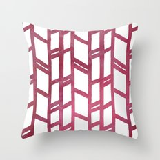 Maroon skyscraper pattern Throw Pillow