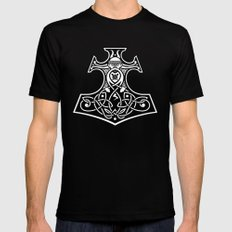 Thor's hammer redux Black Mens Fitted Tee MEDIUM