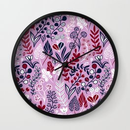Floral meadow Wall Clock